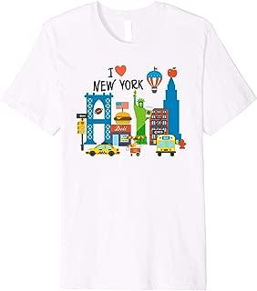 I love New York City NY Icons Souvenir Travel Gift for Kids Premium T-Shirt