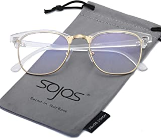SOJOS Semi Rimless Polarized Sunglasses Half Horn Rimmed...