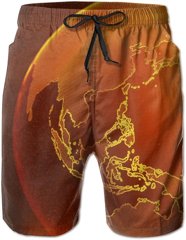 e556b120a42ab Tydo Quick Dry Beach Shorts Globe Planet Swim Swim Swim Trunks Surf Board  Pants With Pockets For Men 0ff5ff