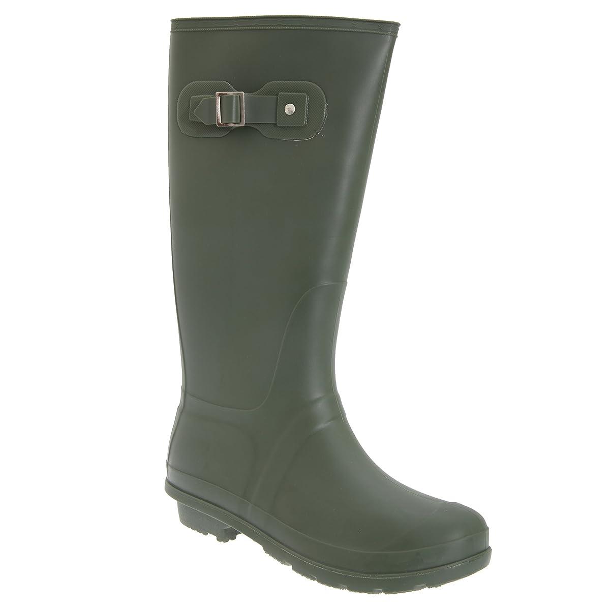 周辺扱うアダルト[StormWells] (ストームウェルズ) レディース ストラップ付き ウェリントンブーツ 婦人靴 レインシューズ 長靴 女性用