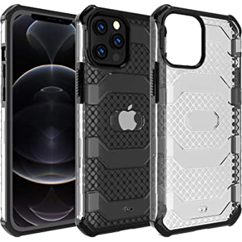 Restoo Compatible with iPhone 12 Pro Max Case,Anti-Slip Hard Armor ShockproofCase with Full Body Rugged Heavy Duty Protection for iPhone12 Pro Max 6.7 inch,Black