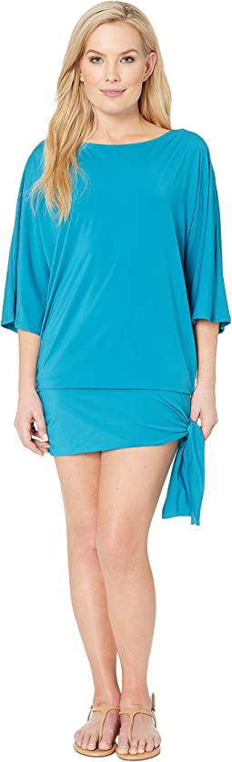 Iconic Solids Side Tie Cover-Up