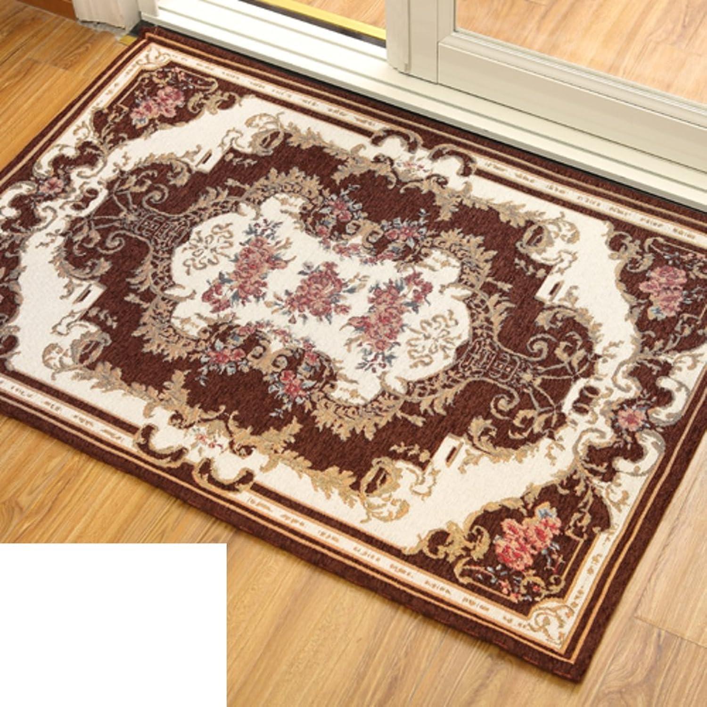 European-Style Floor Mats Doormat Door,Indoor Mats Entrance,Hall,Living Room,Bedroom,Bathroom,Absorbent Non-Slip Mat-B 120x180cm(47x71inch)