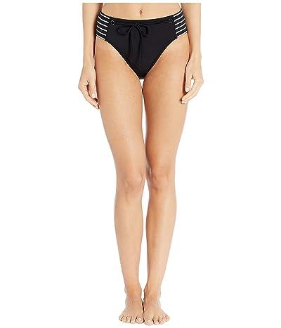 Robin Piccone Sailor High Hip Bottoms (Black/White) Women