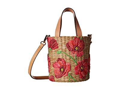 Frances Valentine Small Woven Bucket Bag (Poppy) Handbags