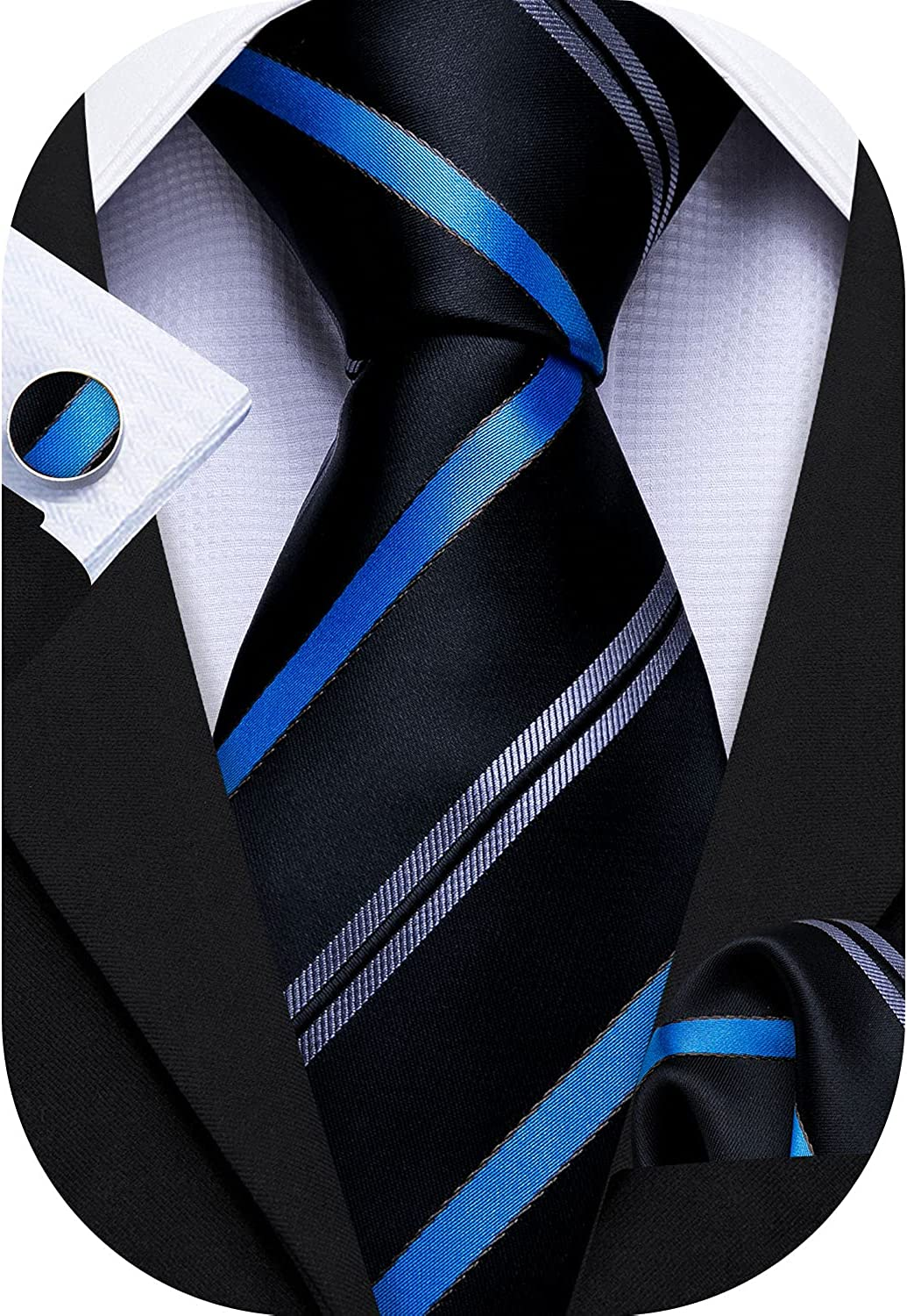 Barry.Wang Mens Tie Paisley Woven Necktie Square Today's only Cu Silk Pocket Ranking TOP11