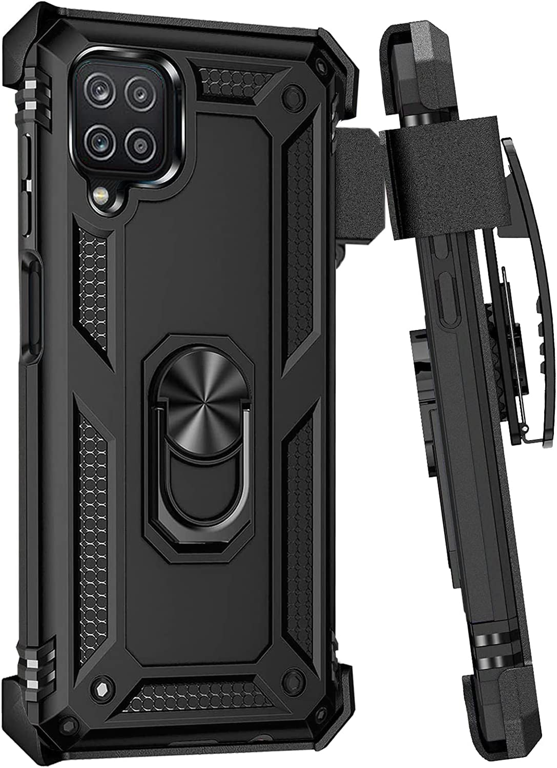 Case for Samsung Galaxy A42 5G Belt Clip Cover,Magnetic Ring Holder Military Grade Heavy Duty Phone Case,Kickstand Shockproof Protective Bumper case Drop Full Body Protection case (1)