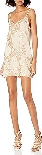 Show Me Your Mumu womens Vivienne Slip Dress Golden Goddess Sparkle Vivienne Slip Dress Golden Goddess Sparkle