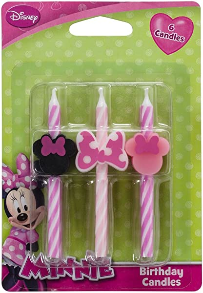 Disney Minnie Mouse Cake Candles 6 Pc