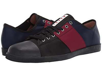 MARNI Multicolor Tennis Sneaker (Black/Port/Red/Blue) Men