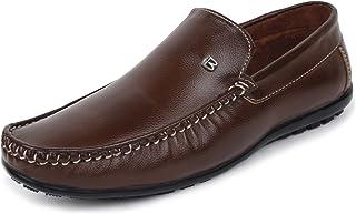 BUWCH Men's Black Loafers- 8 UK (42 1/3 EU) (RKF_29_BRW8)
