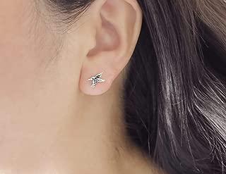 925 sterling silver tiny hummingbird stud earrings