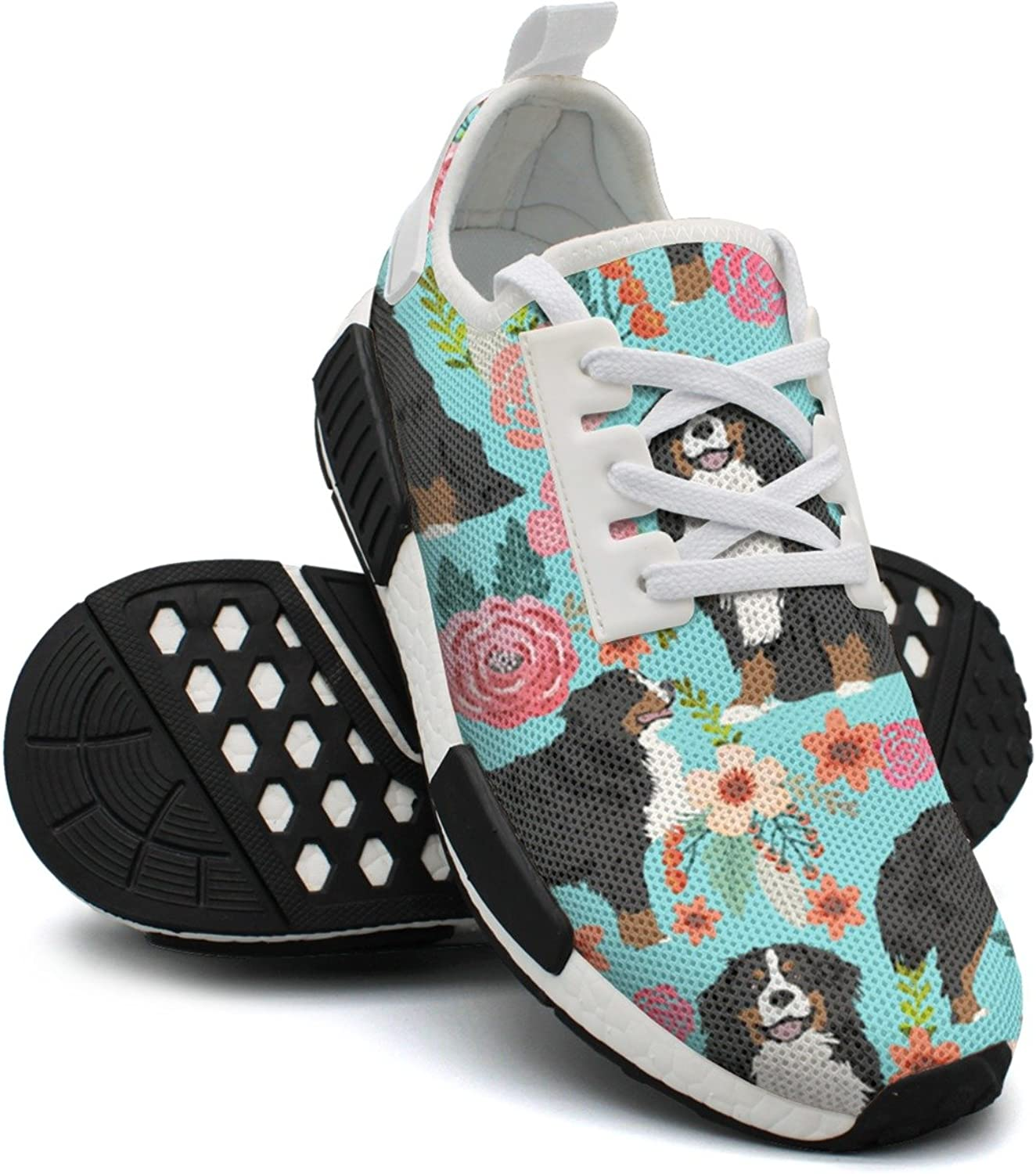 Bernese Pet Dog Floral Women's Funny Lightweight Running Sneakers Gym Outdoor Sports shoes