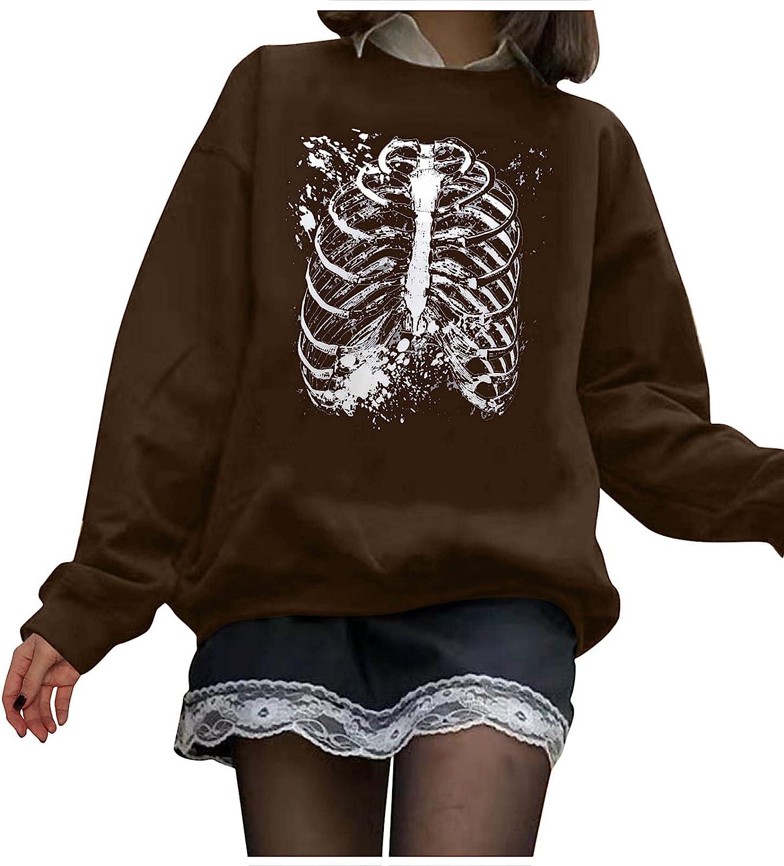 Ylikren Women's Casual Crewneck Max Sales 90% OFF Sweatshirt New Halloween Round N