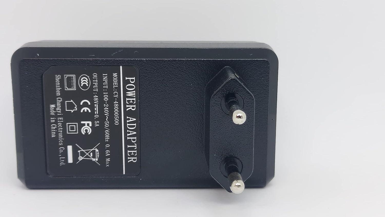 Technobebe.shop Fuente de alimentación Poe 48 V 0,5 A con integrado en su interior un Injector Poe 2 entradas RJ45 de las cuales uno dedicado al Poe Input 100 V~240 V DC