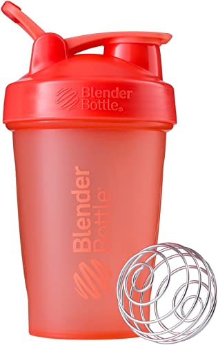 BlenderBottle Classic Shaker Bottle Perfect for Protein Shakes and Pre Workout, 20-Ounce, Coral/Coral