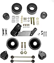 Rubicon Express RE7133 Spacer Lift System 2.5 in. Lift Incl. Spacers Bump Stops Rear Sway Bar Links Rear Track Bar Bracket Clears 35 in. Tires Spacer Lift System