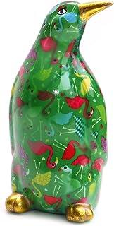 Skarbonka Pingwin CESAR Pomme Pidou ceramika zielony kolorowy wzór flaminga