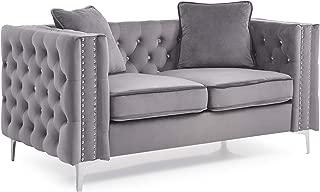 Glory Furniture Paige Loveseat, Gray. Living Room Furniture 30