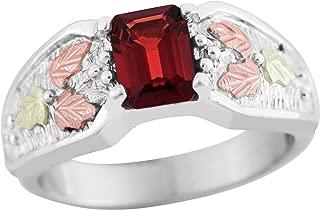 on Silver Garnet Ring