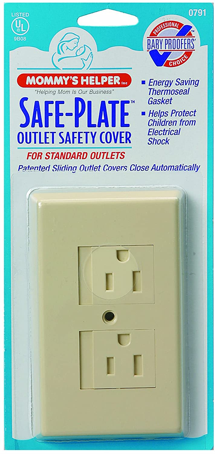 Mommys Helper 25-Pack Bulk Safe Plate Electrical Outlet Covers Standard, Almond