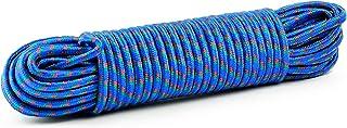 wellenshop Universal-Seil Leine 30m Durchmesser 8mm Bruchlast 100daN Kunststoff Polypropylen PP Blau Festmacher-Leine Boot Camping Outdoor Garten