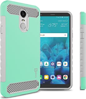 LG Stylo 4 Plus Case, LG Stylo 4 Case, LG Q Stylus Case, CoverON Arc Series Protective Dual Layer Hybrid Phone Case w/Carbon Fiber Design Cover for LG Stylo 4 / Q Stylus/Stylo 4 Plus - Teal/Gray