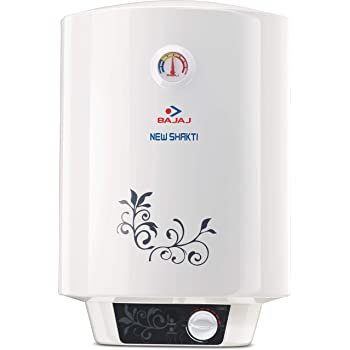 Bajaj New Shakti Storage 15 Litre Vertical Water Heater, White, 4 Star