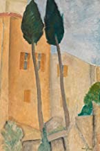 Art Journal: Amedeo Modigliani - Cypresses and Houses at Cagnes - Art Cover College Ruled Notebook | 110 Pages
