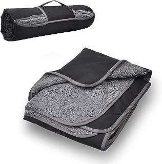 "Tirrinia Outdoors Waterproof Throw Blanket, 51""x 59"" Sherpa Fleece Stadium Windproof Mat for Traveling, Camping, Hiking, Football - Machine Washable"