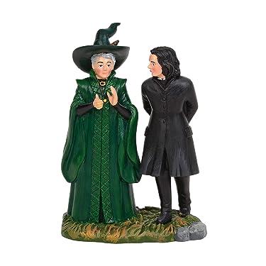 "Department 56 Harry Potter Village Snape & McGonagall Village Figures, 3.5"""