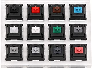 TOOGOO crylic Keyboard Tester 12 Clear Plastic Keycap Sampler for Cherry M Switches