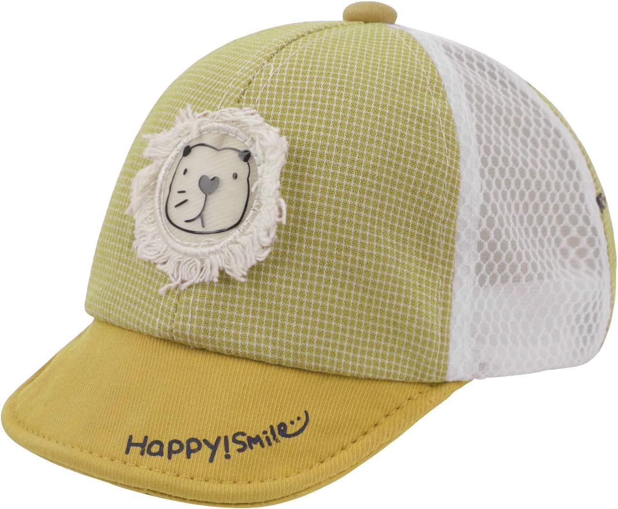 TINAYAUE Baby Toddlers Baseball Cap for 3-18 Month Boys Girls Infant Cotton Caps Quickly Dry Sun Protection Hat Cute Cartoon Lion Baseball Cap Summer Outdoor Beach Hat for Kids