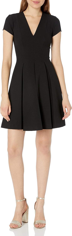 Emporio Armani Women's Fit and Flare V-Neck Dress