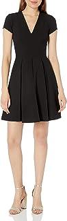 Emporio Armani womens Fit and Flare V-Neck Dress Dress