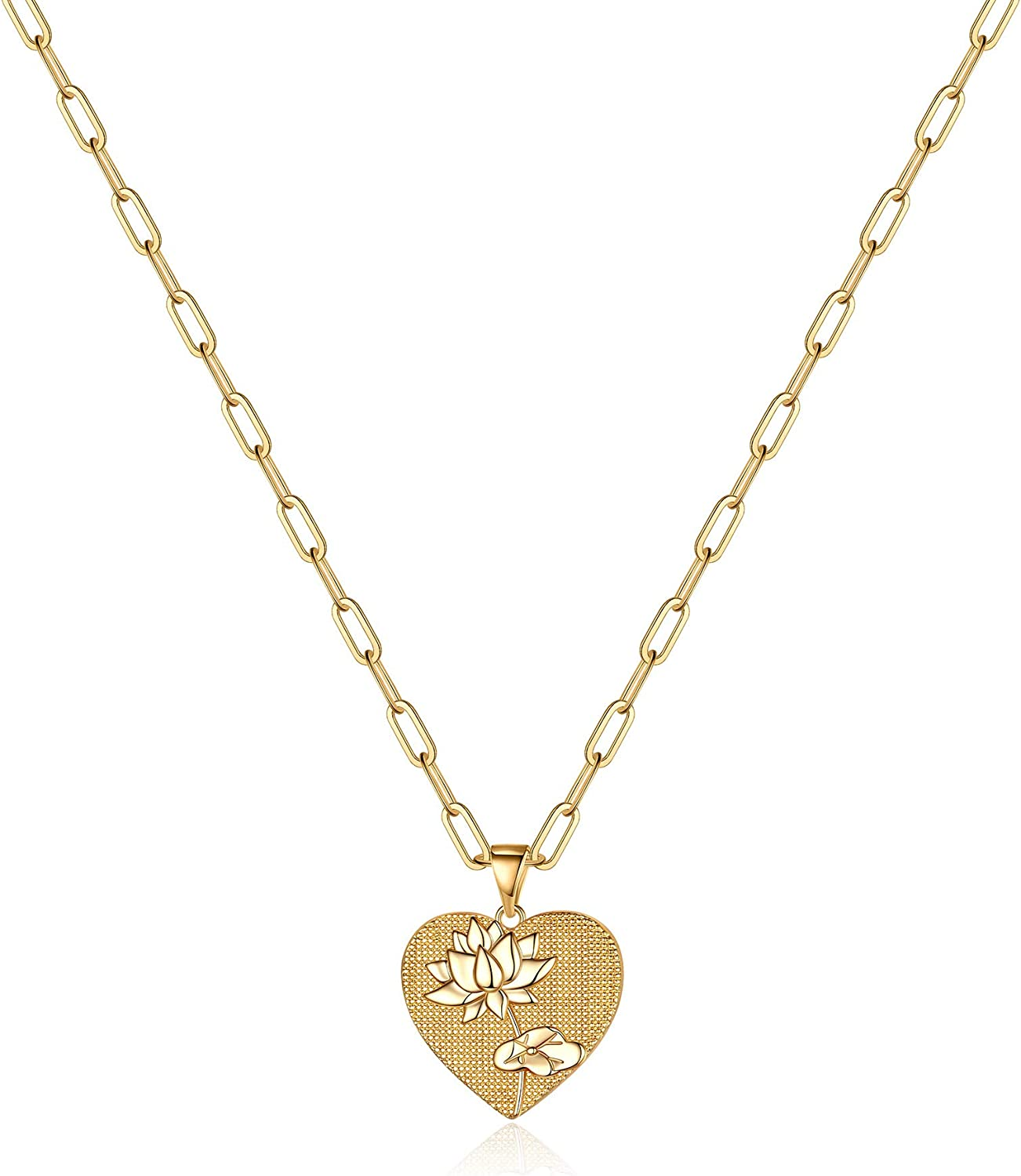 Hidepoo Birth Flower Necklaces for Gold Las Vegas Mall Super beauty product restock quality top Dainty Plated 14K Women