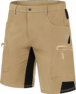 Men's Hiking Shorts 5 Pockets Ripstop, Quick Dry, Summer...
