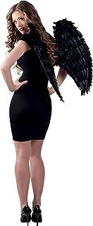 Boland - Alas negras con plumas, 65 x 65 cm, para adulto