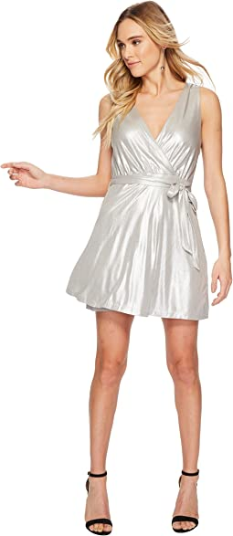 BB Dakota - Aggie Metallic Wrap Dress