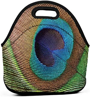 for Womens Mens Boys Girls Peacock,Macro Peafowl Exotic Animal,tote lunch bag for kids