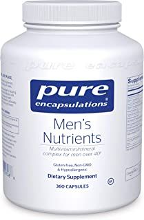 Pure Encapsulations - Men's Nutrients - Hypoallergenic Multivitamin/Mineral Complex for Men Over 40-360 Capsules
