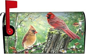 Tuyimm Spring Birds Sunflowers Mailbox Covers Magnetic Summer Sakura Red Cardinal Mailbox Cover Mailbox Wraps Post Letter Box Cover Home Garden DecorationsOversized 18 X 21 Inch