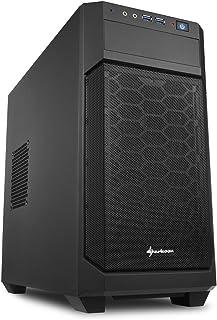 Sharkoon V1000 - Caja de Ordenador, PC Gaming, MICRO-ATX, Negro