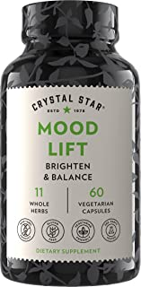 Mood Lift Supplements (60 Capsules) – Herbal Mood Booster with Ashwagandha & Kava Root – Helps Anxiety, Str...