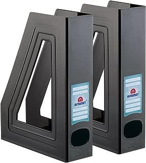 Acrimet Magazine File Holder (Black Color) (2 Pack)