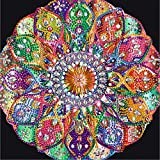 5D Diamond Painting Kits Mandala for Adults DIY Diamond Art Paint with Diamonds Crystal Rhinestones Cross Stitch Diamond Painting Kits for Kids Gem Art Drill and Dotz Paint by Numbers12×12Inch