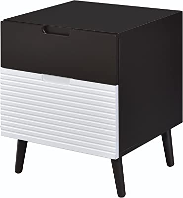 ACME Furniture 84622 Daysi Espresso and White Nightstand, 1 Size