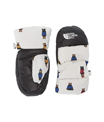 The North Face Kids Nuptse Mitt (Toddler) (TNF White Berkeley Bear Print) Ski Gloves