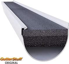 GUTTERSTUFF Gutter Gaurd - 6-Inch Half Round Style Foam Gutter Filter Insert with Year Round Leaf Protection & Easy DIY Installation - 36 x 4' (144-feet)
