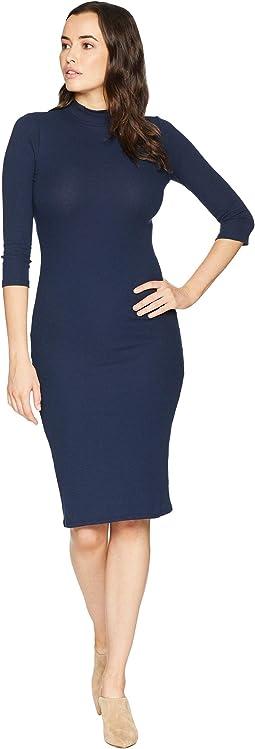 Bella Mock Neck Midi Dress
